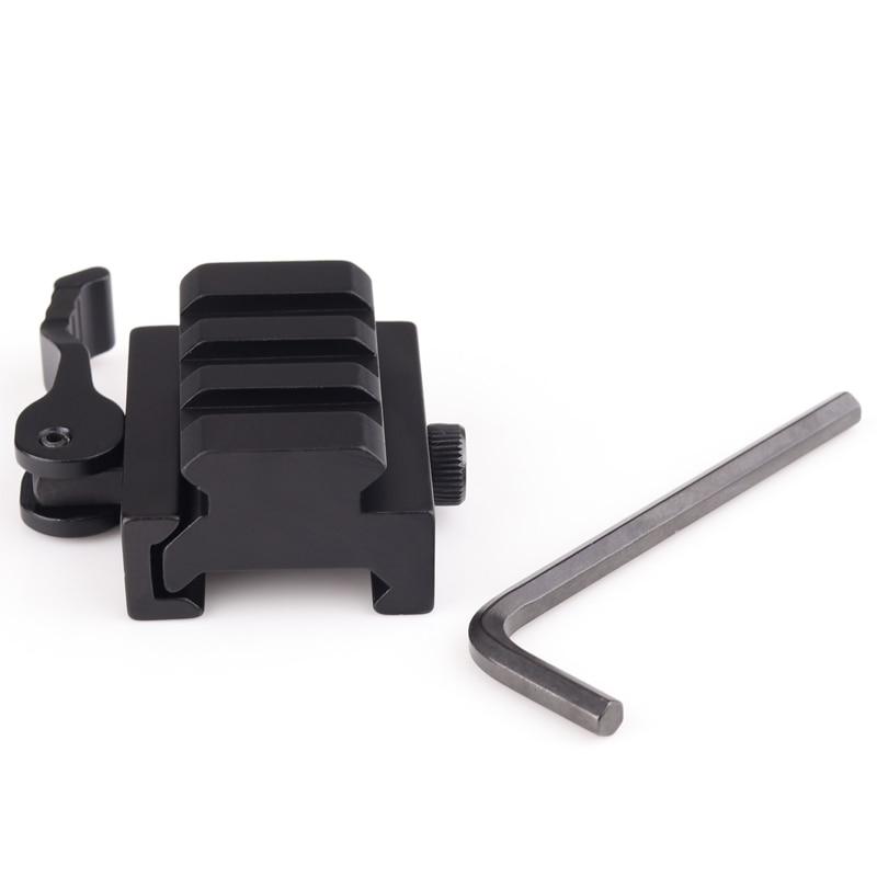 Airsoft 1/2 inch Half Inch Mini Riser Block Mount Metal QD 20MM Quick Release Mount Adapter Laser Hunting Scope Picatinny Rail