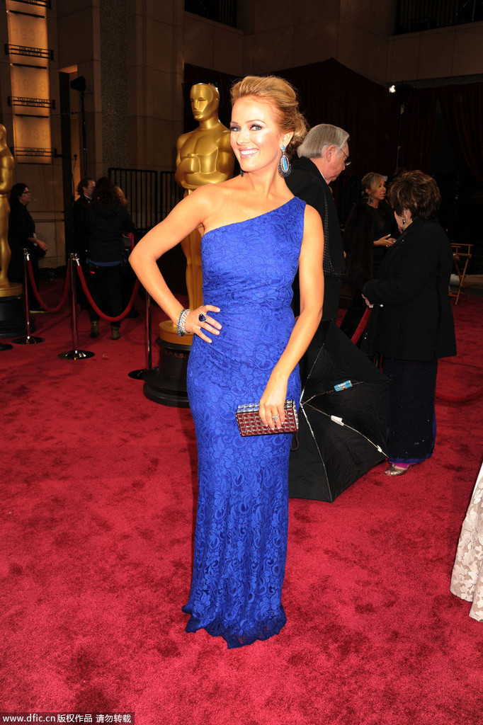 2014 Oscars One Shoulder Mermaid Evening Dress Brooke ...
