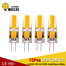 10 Pcs LED Light Bulb G4 COB 3W AC/DC 12V AC 220V G4 LED Energy Saving Lamp Bombilla LED Chandelier Replace Halogen G4 Spotlight