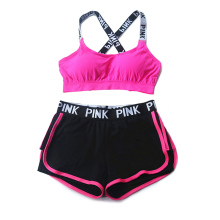 2017 women's bra underwear + pants suit fashion sexy woman health clothes breathable girl jogger hit the vest bra underwear Set