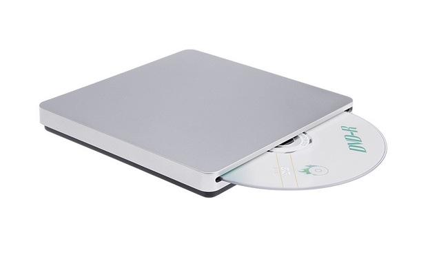 Frete grátis USB2.0 Slot em External Slim DVD RW CD RW dvd-rom burner escritor para laptop para apple imac macbook pro ar