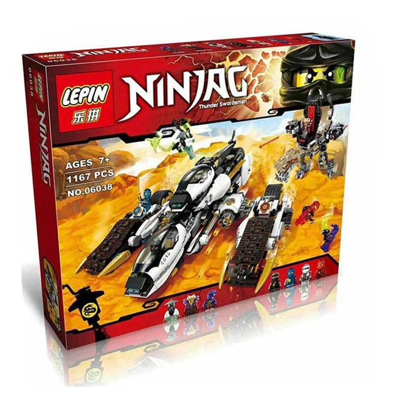 font b Lepin b font 06038 Compatible Legoe Ninjagoes Minifigures Ultra Stealth Raider 70595 Building