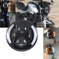 7 inch harley motorcycle led projector headlights for Harley Touring High/Low DRL led H4 7'' headlamp