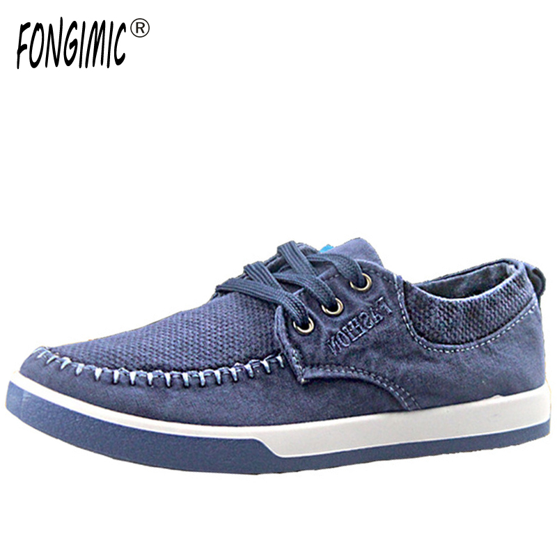 Spring autumn  washed denim canvas shoes new style fashion trend breathable high quality tide loafers classic lace up jean shoes 2016 spring autumn europe china style new tide men canvas casual shoes blue black letters print sewing elastic band flat shoes