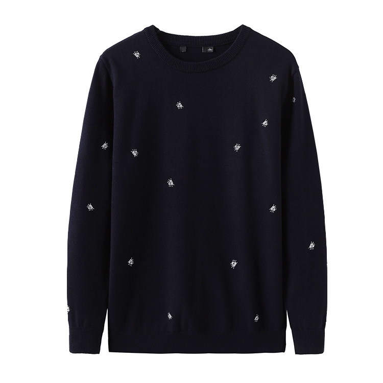 New 2019 Man Winter Embroidered Diamond Knit Casual Sweaters Pullovers Asian Plug Size High Quality Drake #K27