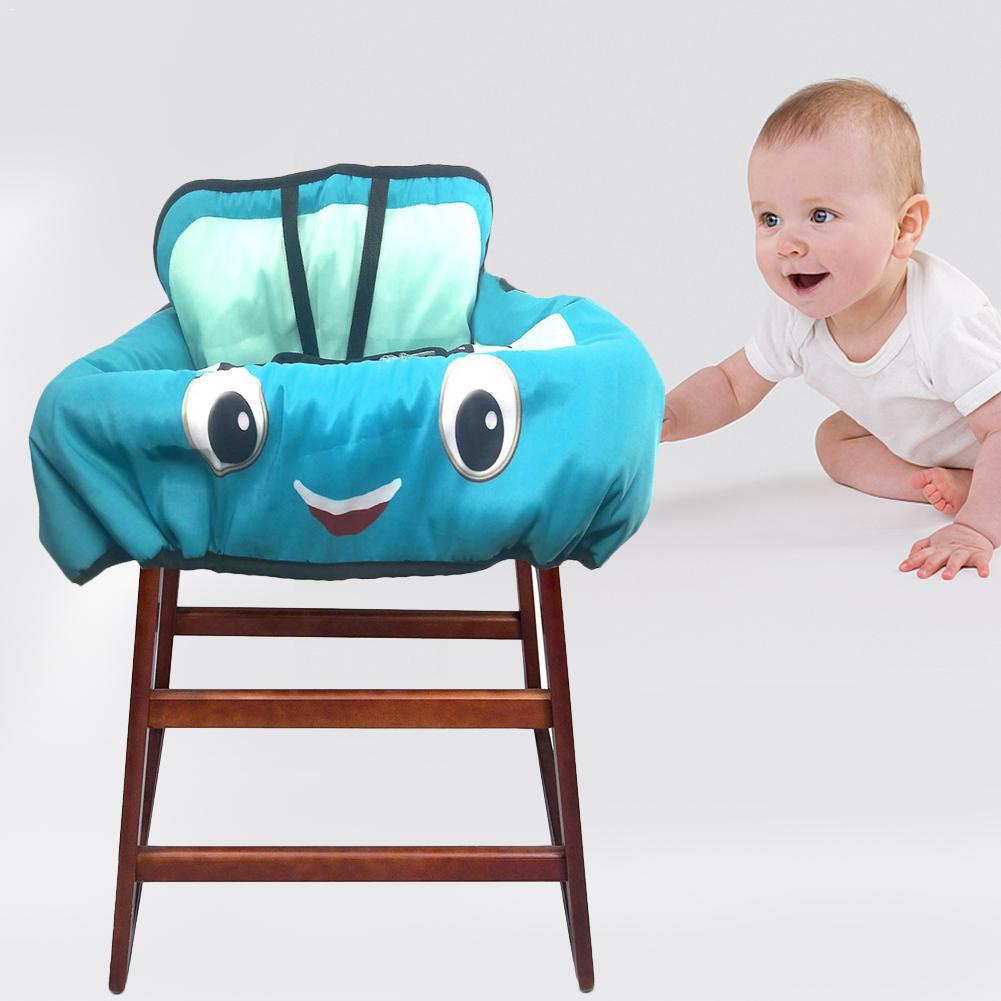Детская магазинная Тележка для покупок Подушка к обеденному стулу Защитная переносная подушка для путешествий с карманами уход за ребенком