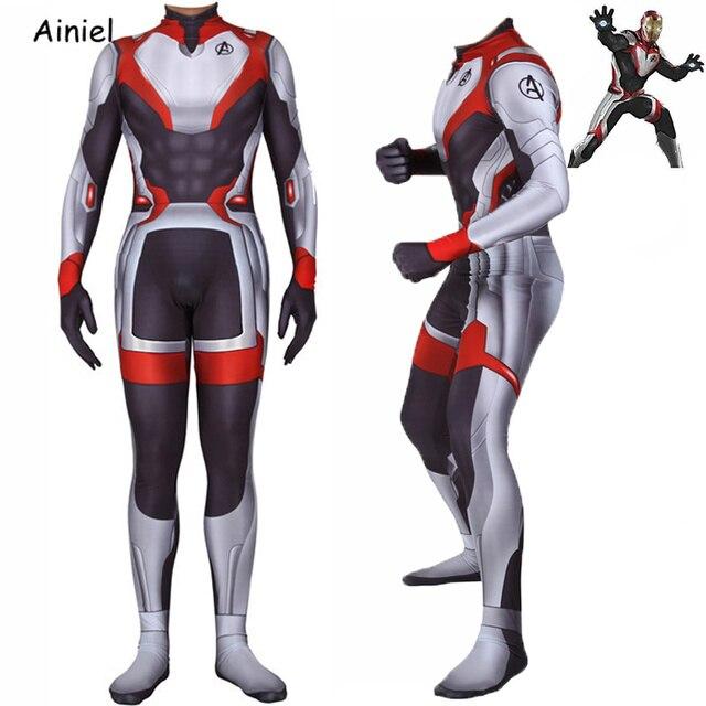 Endgame Reino Quântico do filme Avengers Traje Cosplay de Super-heróis Homem De Ferro Homem Aranha Zentai Bodysuits Trajes de Halloween Para Adultos Crianças