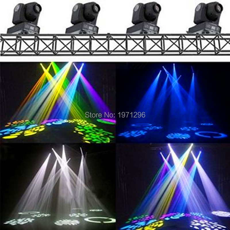 Hot 4pcs/lot Best Selling 30W Spot Gobo LED RGB DJ Mini LED Spot/Gobos Moving Head Stage Light niugul best quality 30w led dj disco spot light 30w led spot moving head light dmx512 stage light effect 30w led patterns lamp
