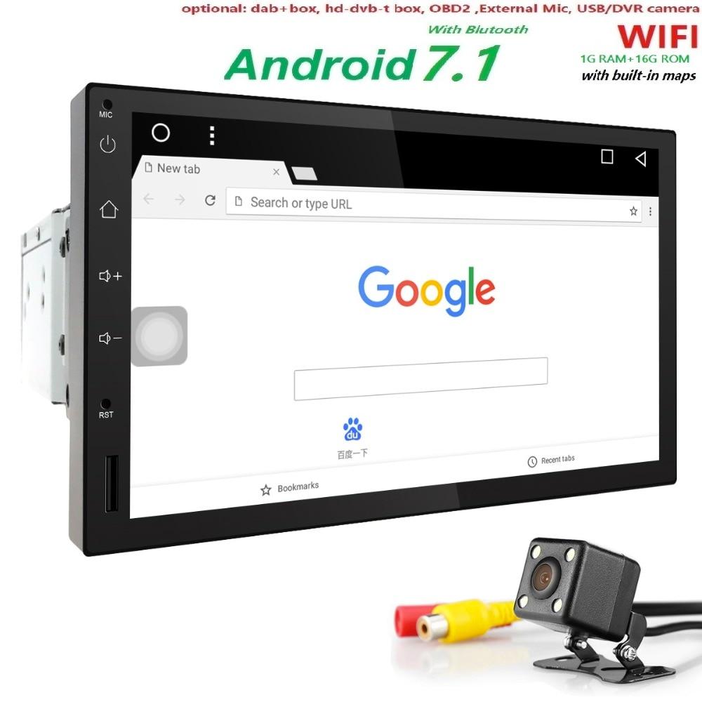 1G RAM Android 7 1 Auto Radio Quad Core 7Inch 1DIN Universal font b Car b