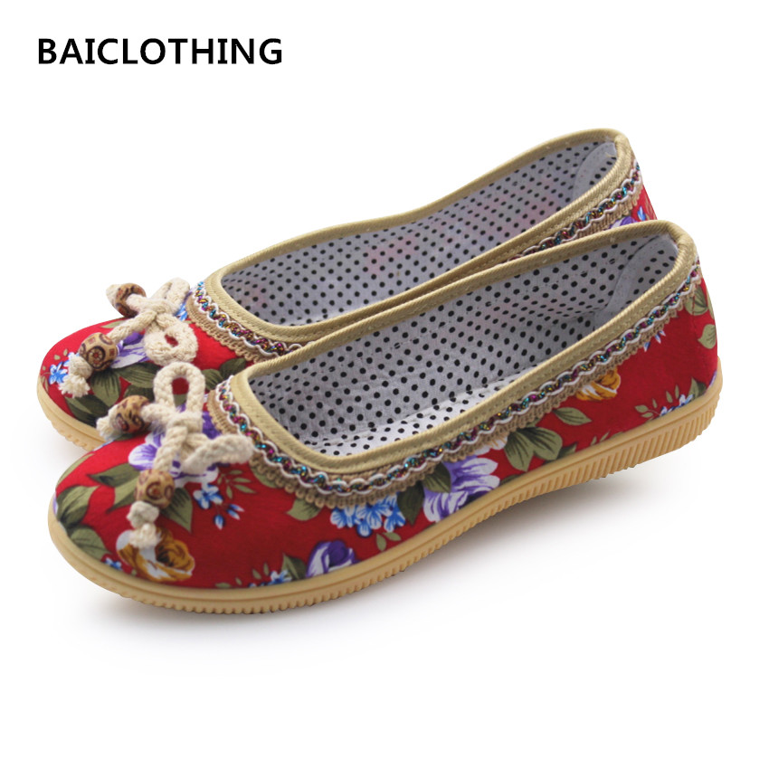BAICLOTHING women casual cute floral shoes female colorful retro flat shoes sapatos femininos lady soft & comfortable loafers baiclothing women casual pointed toe flat shoes lady cool spring pu leather flats female white office shoes sapatos femininos
