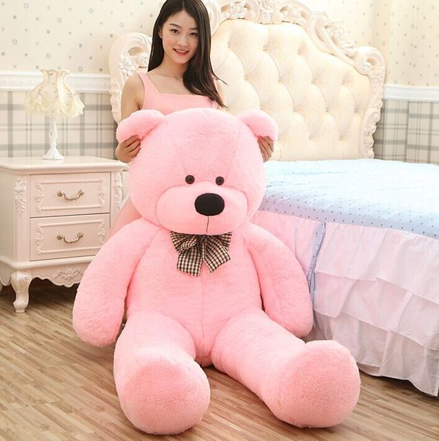 e47a7f7717a 2016 New arrival 6.3 FEET TEDDY BEAR STUFFED LIGHT BROWN GIANT JUMBO 72