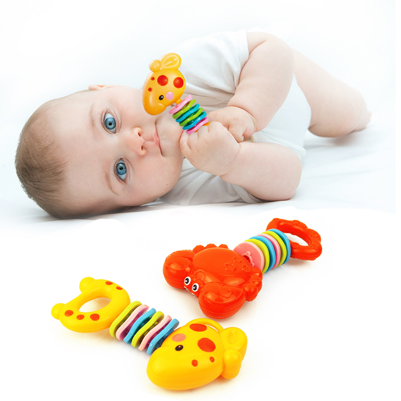 Baby Teether Rattle Teething Toy Soother Gift Learning