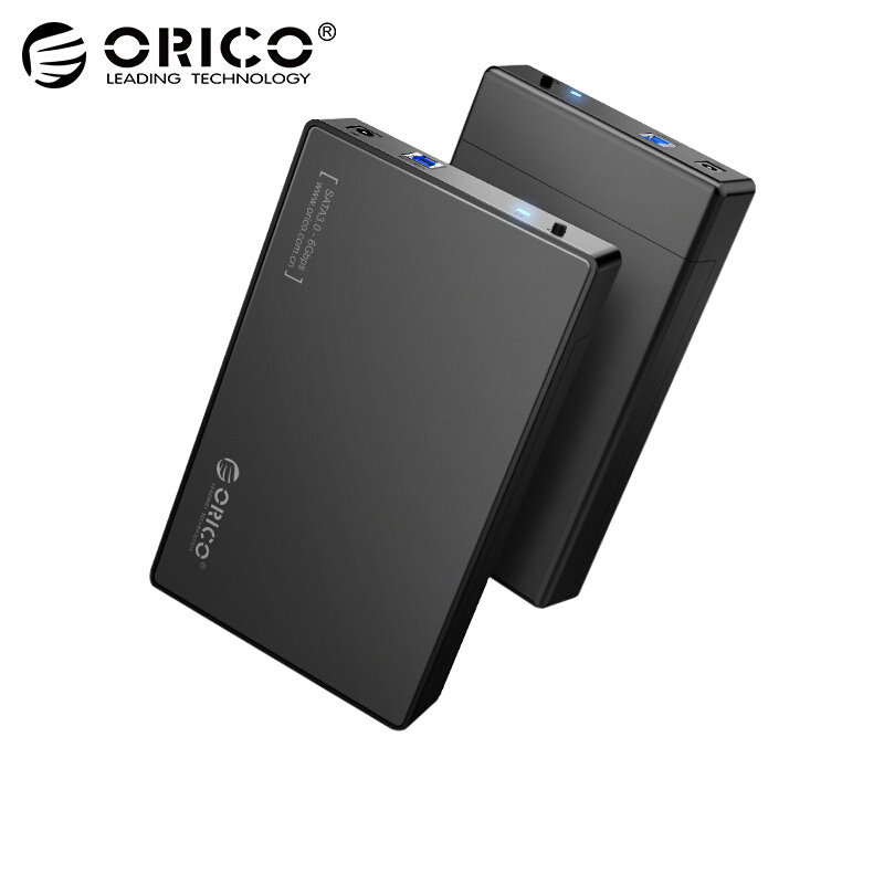 ORICO HDD Case 3.5 inch Tool Free SATA to USB 3.0 SSD Adapter Hard Drive Case External HDD Enclosure for 2.5 3.5 inch HDD SSD ugreen hdd enclosure sata to usb 3 0 hdd case tool free for 7 9 5mm 2 5 inch sata ssd up to 6tb hard disk box external hdd case