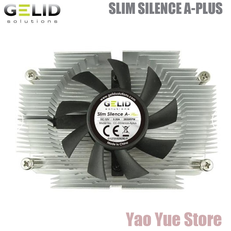 GELID SLIM SILENCE A-PLUS PC AMD  CPU 1U ITX ATX Heat Sink Radiator processor Cooler Cooling Fan LGA AM2 AM3 AM3+ FM1 FM2+