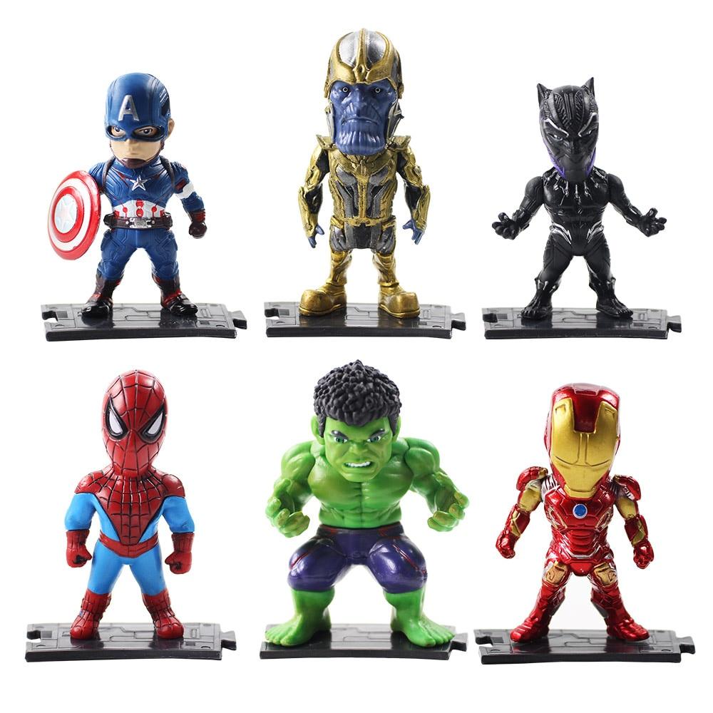 6pcs-set-9cm-font-b-marvel-b-font-action-figure-avengers-captian-america-thor-hulk-iron-man-spiderman-thanos-black-panther-figures-toy