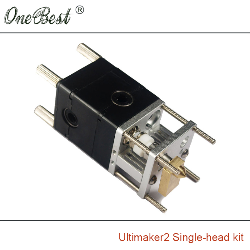 3D printer Ultimaker 2 printhead Single-head kit hot extrusion head end kit 3D printer printhead hot selling Free shipping 3d printer parts ultimaker v2 control board ultimaker 2 generations board interface board with lcd genuine spot free shipping