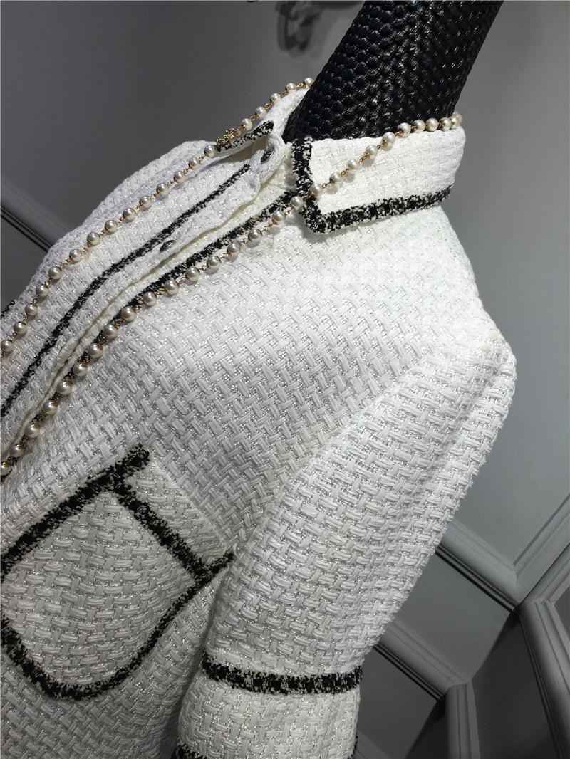women elegant office dress,custom plus size xs-6xl,tweed winter dress,ladies vestidos de fiesta,tweed autumn White dress 4