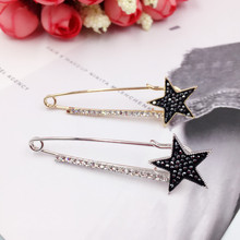 New Luxury Vintage Zircon Star Brooches Large Pins for Women Men Fashion Sweater Scarf Suit Collar Pin Broches Wedding Jewelry