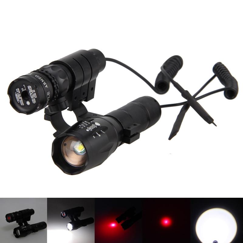 Zoomable Police 6000LM XM-L T6 White LED 5 modes Flashlight + P02 Gun Riflescope police pl 12921jsb 02m