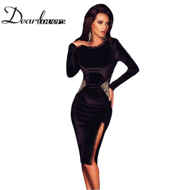 Online Get Cheap Velvet Black Dresses Long Sleeves -Aliexpress.com ...