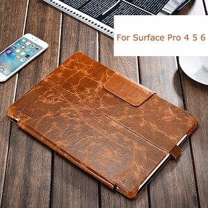 Чехол для Microsoft Surface Pro 7 6 5 4, Винтажный чехол из натуральной воловьей кожи, деловой чехол-подставка для Surface Pro 7 12,3