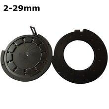 Sale 2-29 mm Amplifying Diameter Zoom Optical Iris Diaphragm Aperture Condenser 11 Blades Digital Camera Monitor Microscope Adapter