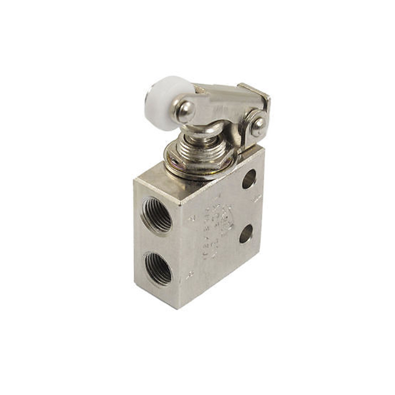 1/8PT 2 Position 3 Way Rectangle Mechanical Spring Air Pneumatic Valve TAC2-31P 3 8 pneumatic one way design air flow control valve re 03