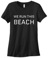 Women S We Runer This Beach T Shirt Funny Summer Cotton Casual Funny Shirt Design T
