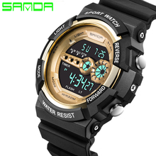 New Brand SANDA Watch Men Women Fashion Military Watch Sports Waterproof  LED Digital Wristwatch цена