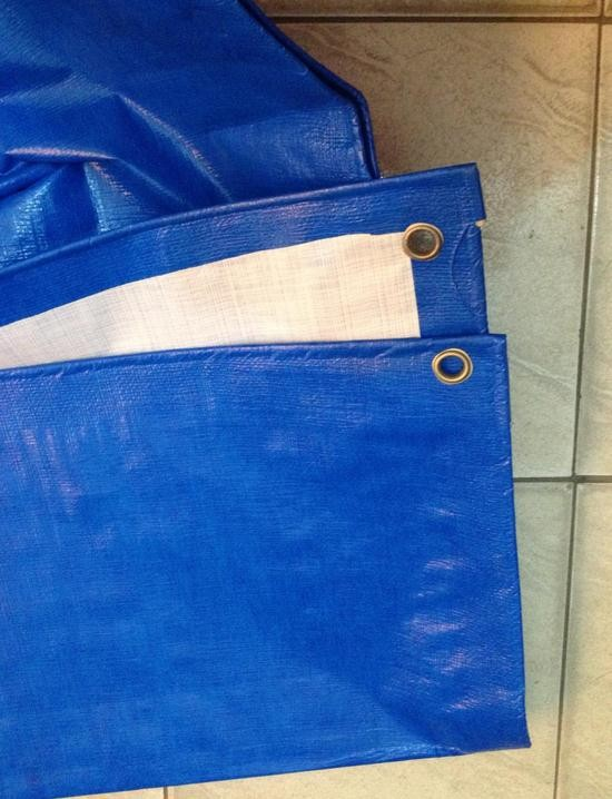 Customize 2mX3m Blue And White Outdoor Cover, Waterproof Canvas, Tarps, Rain Tarpaulin, Truck Tarpaulin, Sun Cloth