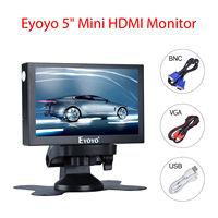 Eyoyo 5 inch Mini HDMI Monitor 800x480 Car Rear View TFT LCD Color Screen Display With BNC/VGA/AV/HDMI Output Built in Speaker