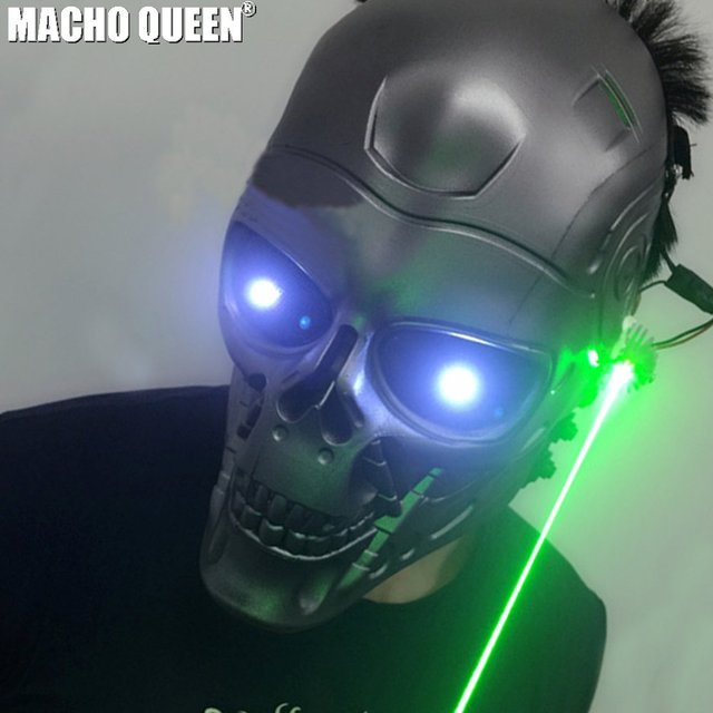 9db9788dfbebb3 Burning Man Led Laser Mask Costumes Respirator Cyber Cosplay Summer  Festival Rave Clothes Outfits Stage Gear