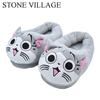 Cute Cat Slippers Pantoffels Cotton Indoor Slippers Home Slippers Embroider Women Slippers Shoes One Size 35-43 Sneaker Slippers 3