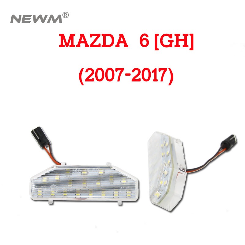 2PCS 18LED License number plate <font><b>light</b></font> lamp for <font><b>Mazda</b></font> <font><b>6</b></font> MAZDA6 2006-2011 RX-8 04-12 image