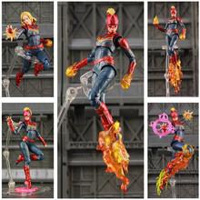 Nowość w pudełku Marvel Avenger 4 Endgame kapitan Marvel 6 figurka carol danvers Legends Doll KOs SHF Toys tanie tanio JAXTOY Model Żołnierz gotowy produkt Wyroby gotowe Unisex 6inch 1 12 Zachodnia animiation Remastered version 3 lat Zapas rzeczy