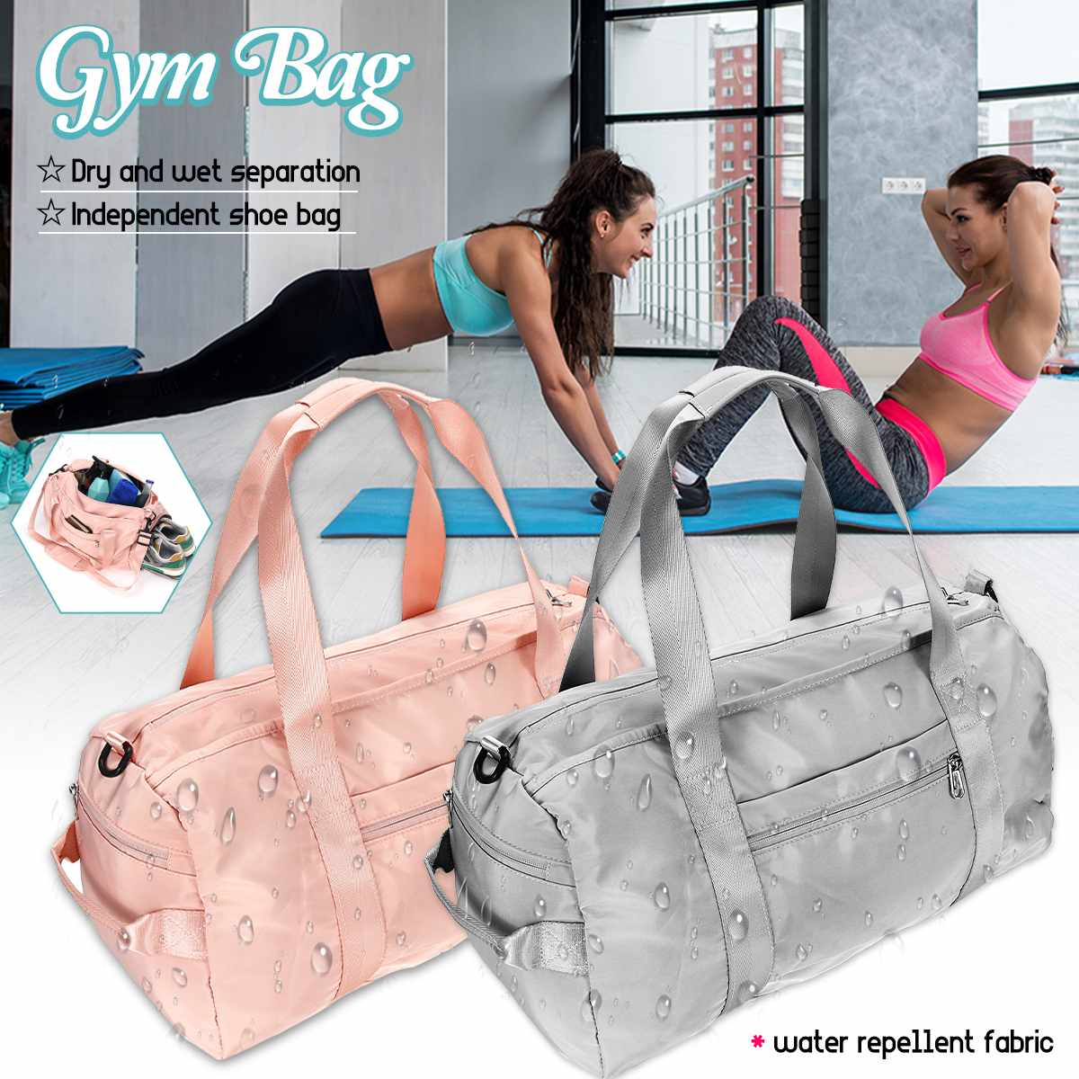 Outdoor Gym Bag Sports Backpack Dry Wet Gymtas Yoga Bolsa Fitness Luggage With Shoes Compartment Outdoor Sports Swimming Women