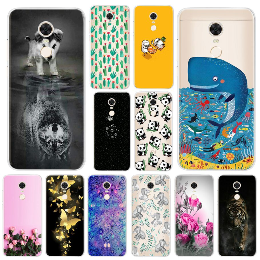Soft Case For Protector Xiaomi Redmi 5 Plus Anime Phone Case Silicone For Cover Xiaomi Redmi 5 Plus Smartphone Cartoon Bumper