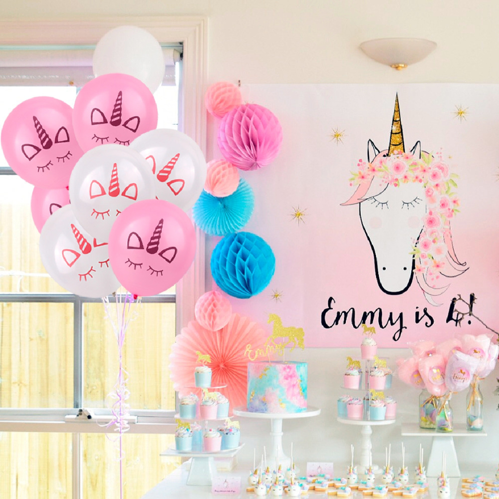 5pcs Unicorn Party Decorations Keychain Birthday Party Decorations Kids Party Favors Unicornio Decor Party Baby Shower Supplies Festive & Party Supplies
