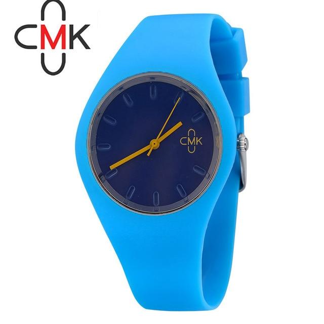 Watch Women CMK brand luxury Fashion Casual quartz watches Cartoon Rubber sport Lady relojes mujer wristwatches Girl Dress gifts