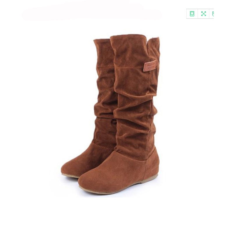 shoes woman bota feminina Flock Winter Rome leisure joker thigh high boots platform boots