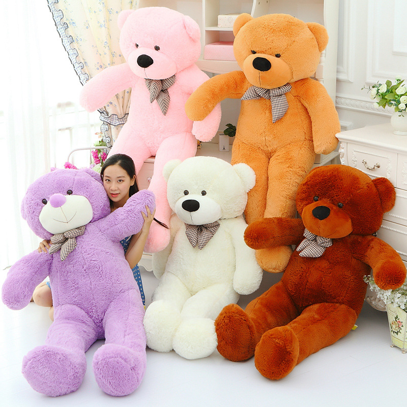 200cm/79 inch hugeTeddy Bear  Plush Toys Soft Stuffed Animals  Dolls baby  birthday Valentine's Day Girlfriend gift 5 colour hot sale cute dolls 60cm oblong animals pillow panda stuffed nanoparticle elephant plush toys rabbit cushion birthday gift