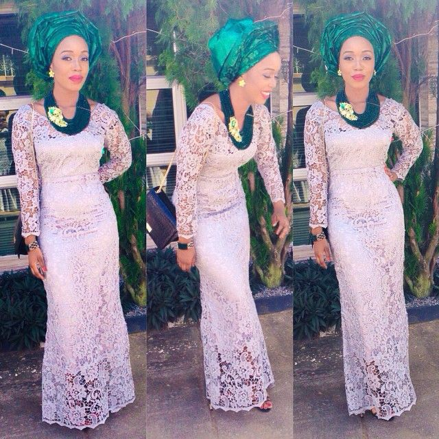 Abendkleider White Lace African Evening Gowns With Long Sleeves ...