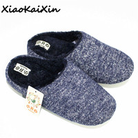 XiaoKaiXin Winter Home Shoes Women Warm Plush Indoor Mens Slipper 5 Layer Thermal Design Color Spun