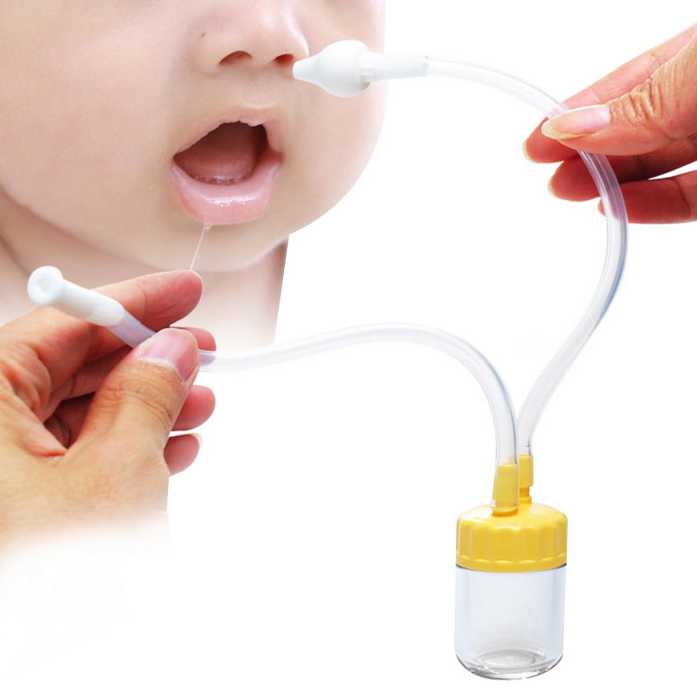 New Born Baby Safe Nose Cleaner Vacuum Suction Nasal Mucus Runny Aspirator Inhale Bodygu ...