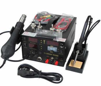 3 IN 1 110V or 220V Saike 909D 3 in 1 Heat Air Gun Solder Iron Soldering Station + Power Supply