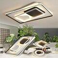 Современные потолочные светильники  светодиодные лампы для гостиной  спальни  круглые квадратные металлические светильники для спальни  с...