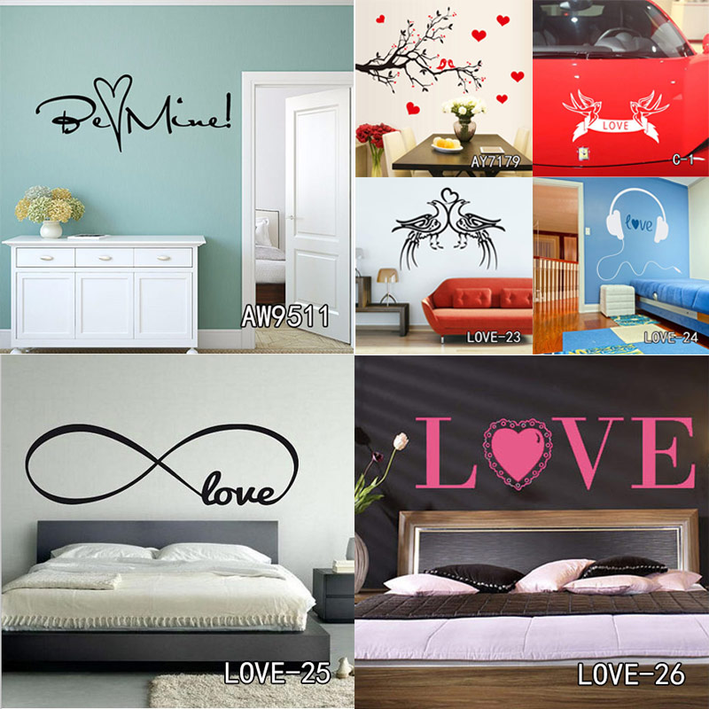 infinity love customized wall art decal home decor loving quotes
