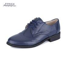 0e804f7a39 Nuevo 2018 nueva moda de los hombres tallados cuero genuino brogue Zapatos  Hombre oxford bullock zapatos vintage lace up casual .