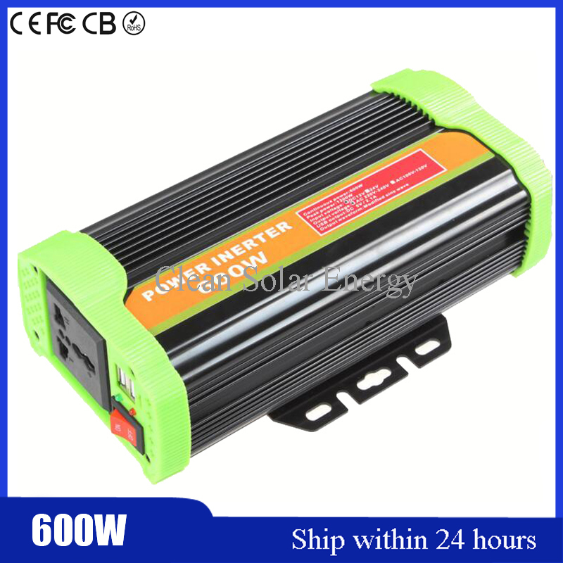 Auto 600W Car Modified Sine Wave Power Inverter Charger Car DC 12V to AC 110v Converter + USB With Car Cigarette Lighter цена и фото