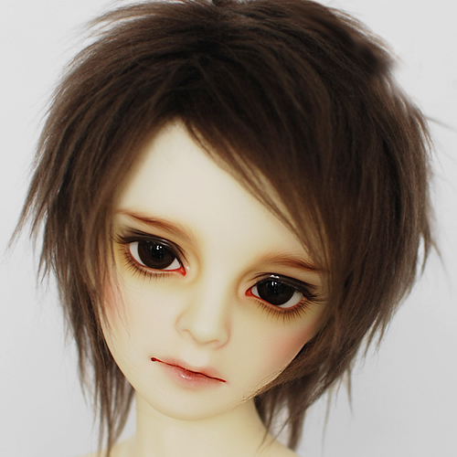 <font><b>BJD</b></font> Plush <font><b>Wig</b></font> Short <font><b>Brown</b></font> For 1/4 <font><b>1/3</b></font> 17